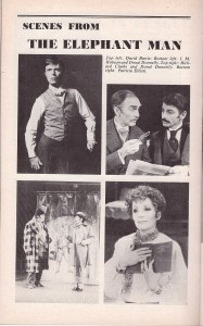 Scenes from the original Playbill